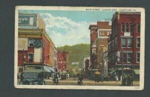 Ca 1922 Post Card Johnstown PA Main Street