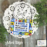 DecoWords Wood Dog Ornament Mini Sign House is not a Home w/o a Doberman * Gift