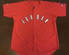 Rare Vintage 90's Nike Air Jordan Button up Baseball Jersey