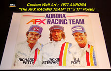"Custom AFX Wall Art - Repro 1977 AURORA ""AFX RACING TEAM"" 11T x 17W Hi QA POSTER"
