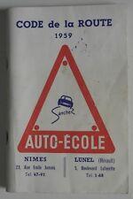 Code de la Route 1959 - Editions Rousseau