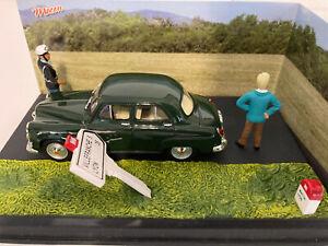 1/43 la route bleu diorama: L'accrochage : Simca Aronde N°25