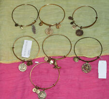 #03 LOT OF 7 ALEX AND ANI GOLD FINISH CHARM BANGLE BRACELET