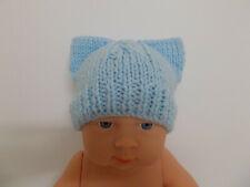 Bebé Sombrero Gorro de punto rosa de mano Corazones y tamaños de cinta temprano recién nacido o 3 mths