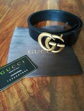 Gucci Gürtel GG Schnalle Marmont original Gr. 85 Schwarz