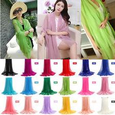 Long Scarves Women's 100% Silk Solid Shawl Wrap Wraps Shawl Beach Silk Scarf