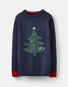 Joules Boys The Cracking Christmas Jumper  - French Navy - 5Yr
