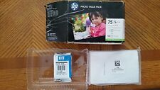 HP 75 Tri-Color Ink Cartridge Photo Value + 100 Photo Paper. Expiration: 10/2011
