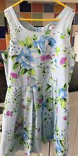 Miss Evie Blue Floral Summer Party Dress - Size 11-12