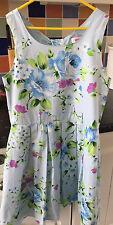 Miss Evie Blue Floral Summer Party Dress - Size 11-12