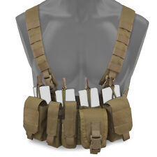 Bulldog Kinetic Military Tactical MOLLE Chest Rig Harness Vest Carrier Coyote