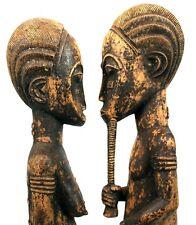 Art Africain Premier - Couple Baoule - Côte d'Ivoire - Baule Items - 53 Cms +++