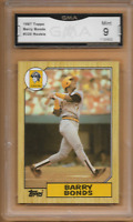 1987 Topps Barry Bonds Rookie Card #320 GMA 9 Mint Pittsburgh Pirates