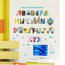 Super heroes Avengers Alphabet ABC Letters Wall Stickers Removable Kids Nursery