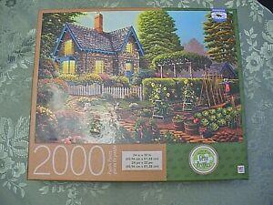"""2000 Piece Puzzle - Milton Bradley - """"Garden Escape"""" - 24"""" x 32""""- Pre-Owned"""
