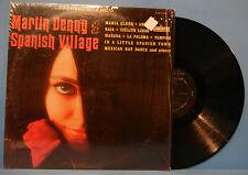 MARTIN DENNY SPANISH VILLAGE LST-7409 VINYL LP 1965 ORIG PRESS SHRINK VG/VG+!!