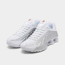 Nike Shox R4 Casual Shoes White / Metallic Silver Sz 8 104265 131
