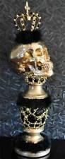 Gothic Dekofigur Schädel Statue Skull Totenkopf Totenschädel Gruftíe Dekosäule