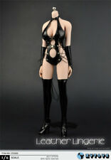 1:6 ZYTOYS Female Sexy Leather Underclothes Black Clothes Boots Set F 12'' Doll