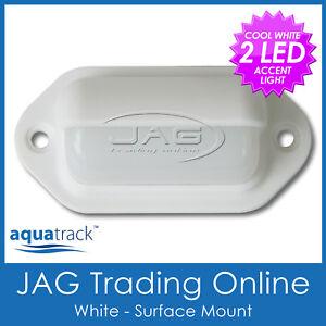 12V 2-LED WHITE CABIN COURTESY LIGHT - Boat/Stair/Caravan/Step/RV/Accent Lamp