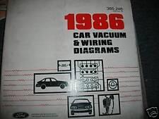 1986 FORD MUSTANG GT LX SVO MERCURY CAPRI WIRING DIAGRAMS SHEETS SET