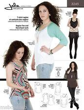 Jalie Raglan Tee, Racerback Tank & Tunics Sewing Pattern 3245 Misses & Girl Size