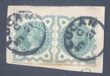 IRELAND LUCAN 1890 VILLAGE CDS on QV 1/2d PAIR on PIECE