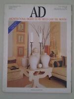 B962 AD ARCHITECTURAL DIGEST LE PIù BELLE CASE DEL MONDO N. 202 - MARZO 1998