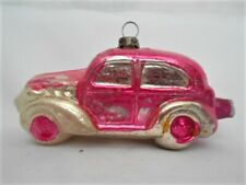 Antique German Glass Figural Police Automobile Christmas Ornament ~ 1930's