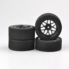 4Pcs Foam Tire 12mm Hex Wheel Rims 23002 For HPI 1:10 On-road RC HSP Racing Car