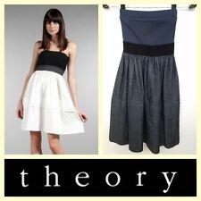 Theory $308 'Edan Greece' blue tube dress~XS