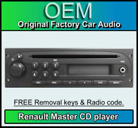 Renault Master CD player with AUX IN, Renault car stereo + radio code, keys