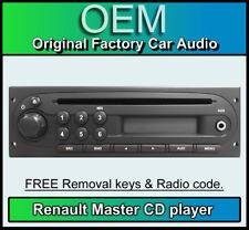 Renault Master MP3 reproductor de CD, RADIO estéreo de coche Renault, código & retiro llaves