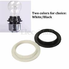 Black/White E14/E27 Lampshade Light Shade Collar Ring Adaptor Socket Holder