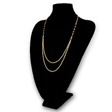 Wholesale Gold Plated Choker Collar Thin Chain Beads Statement Charms Necklace