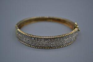 9ct Gold Diamond Oval Bangle