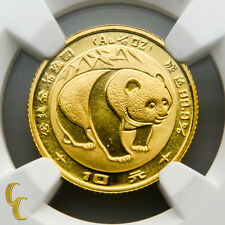 1983 Gold Chinese Panda 1/10 oz 10 Yuan Graded by NGC MS 69
