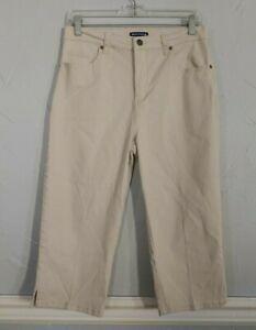 Architect size 8 pale beige/tan capri pants. Cropped, short