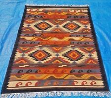 Hand Woven Wool Rug Traditional Kilim Dhurrie Persian Oriental Area Rug 4X6 ft