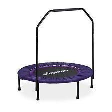 Trampolin faltbar mit Haltestange Indoor Fitness schwarz-lila max. 120kg Jumper