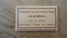 ANCIEN PAQUET DE FEUILLES A CIGARETTES ROLLING PAPER EL BOURAK
