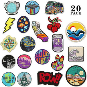 Funny Cute Iron On Patch Embroidered Badge Kids Arts Sticker Motif Applique
