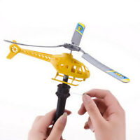 Handle Pull Plane Aviation Outdoor Toy For Kids Play Model Aircraft Helicopter 5