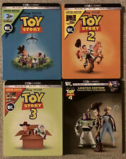 Toy Story 1, 2, 3, 4 1-4 Collection (4K Uhd Discs Only + Steelbooks) See Detail!