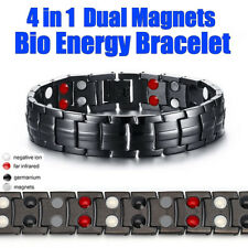 4 in 1 Mens Titanium Super Strong Anion Magnetic Therapy Bracelet Bio Arthritis