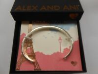 Alex and Ani Color Infusion Cuff, Heart Bangle Bracelet NWTBC