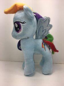 "My Little Pony Rainbow Dash Plush Stuffed Animal Blue cloud Pegasus Horse 10"""