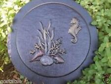 "Gostatue mould heavy duty seahorse stepping stone mold 8"" x over 1"" thick"