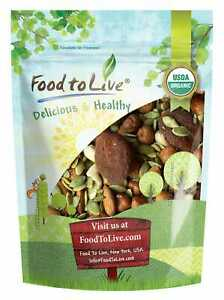 Organic Active Life Trail Mix — Raw, Non-GMO, Vegan Superfood, Kosher, No Sugar