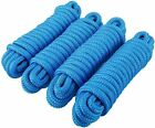 4 Pack 3/4 Inch 25 FT Double Braid Nylon Mooring Rope Boat Dock Line Blue Ropes